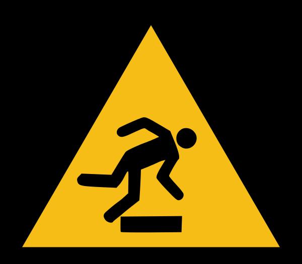 ISO, veszély figyelmeztetés